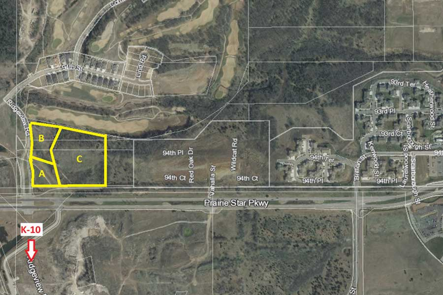 Prairie Star Pky & Ridgeview Rd Aerial