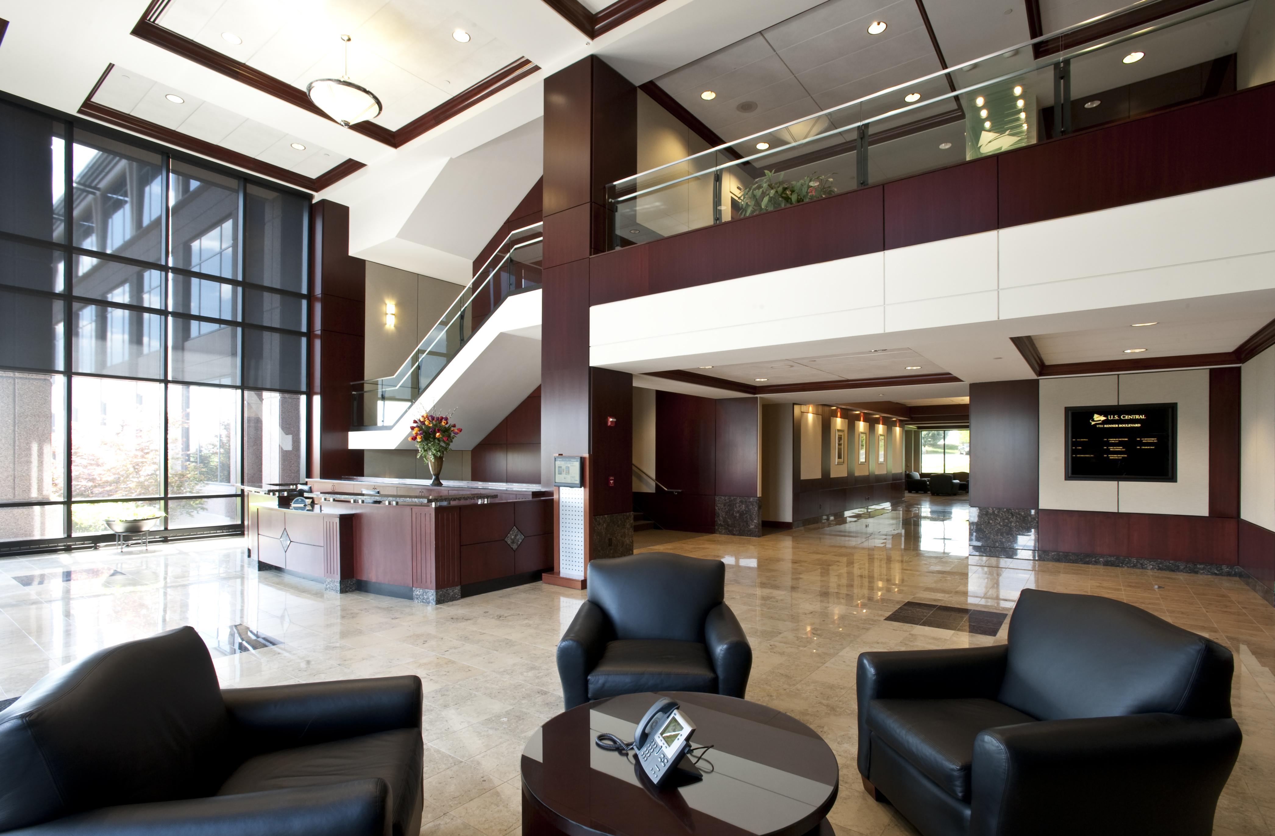 9701 Renner Boulevard interior lobby